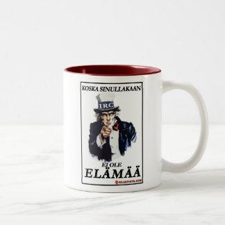 Kahvinpidikkeen paluu Two-Tone coffee mug