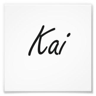 Kai Artistic Name Design Photograph