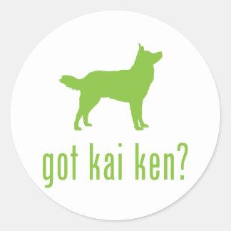 Kai Ken Round Sticker