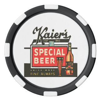 Kaier's Special Beer Poker Chips