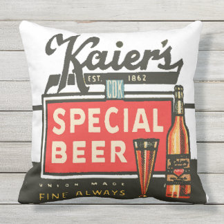 Kaier's Special Beer Throw Pillow