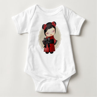 Kaiko the kokeshi doll baby bodysuit