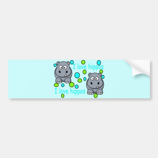 kaili-s-awesome-hippo-hi bumper stickers