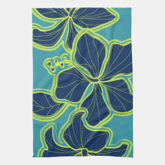 Kailua Hibiscus Hawaiian Kitchen Towel