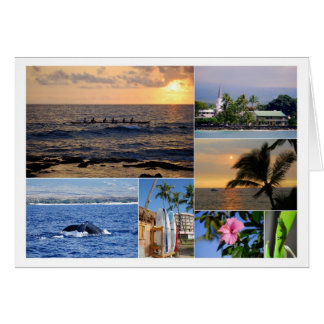Kailua Kona Hawaii Collage Card