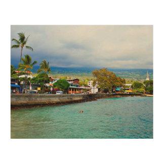 Kailua Kona Pier Hawaii Digital Oil Paint Art