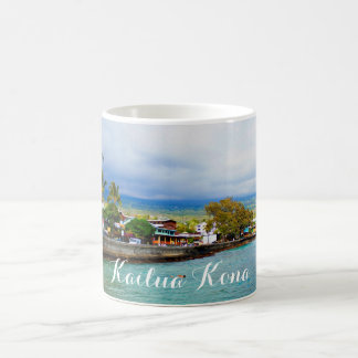 Kailua Kona Pier Hawaii Oil Paint Digital Art Coffee Mug