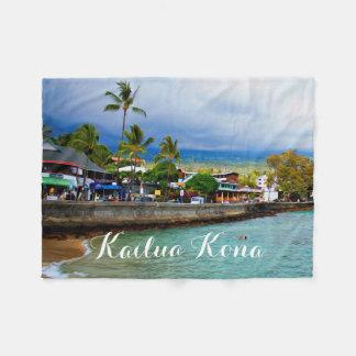 Kailua Kona Pier Hawaii Oil Paint Digital Art Fleece Blanket