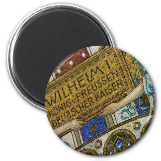 Kaiser Wilhelm Church, Berlin, Plague, Mosaic Tile 2 Inch Round Magnet