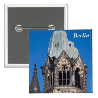 Kaiser Wilhelm Gedachtnis Kirche, Berlin 2 Inch Square Button