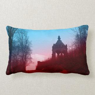 kaiser wilhelm I monument in porta westfalica Lumbar Pillow