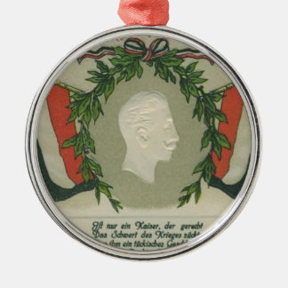 Kaiser Wilhelm II Metal Ornament