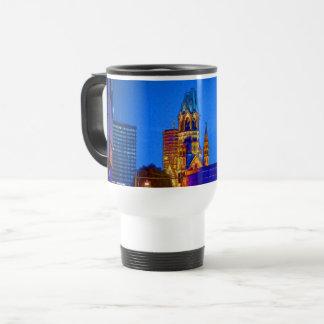 Kaiser Wilhelm Memorial Church, Berlin, Illu Travel Mug