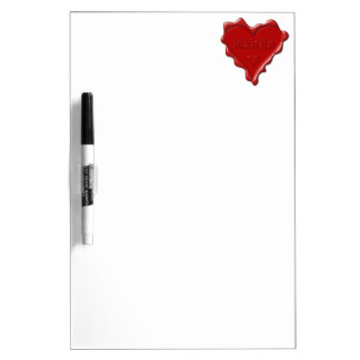 Kaitlin. Red heart wax seal with name Kaitlin Dry Erase Whiteboards