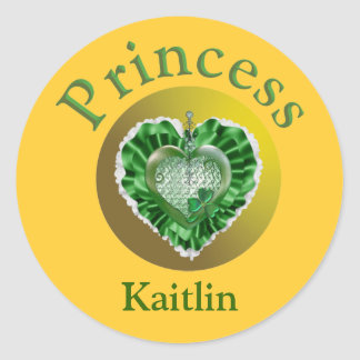 Kaitlin Round Sticker