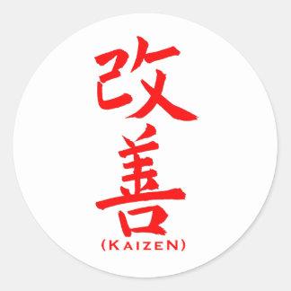 Kaizen Template Round Sticker