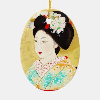 Kajiwara Hisako A Kyoto Maiko geisha fine art Ceramic Ornament