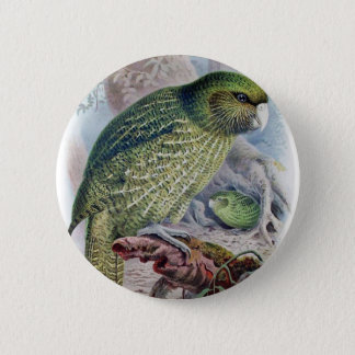 Kakapo 2 Inch Round Button
