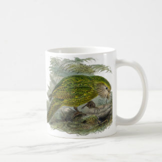 Kakapo Green Parrot Vintage Illustration Coffee Mug