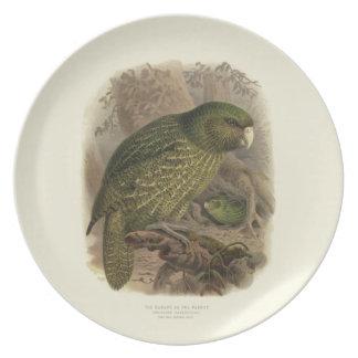Kakapo Melamine Plate