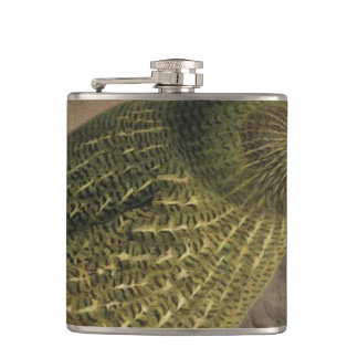 Kakapo Semi-Abstract Flask