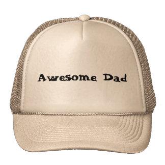 Kaki and white cap trucker hat