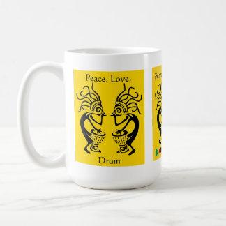Kakilambe Drum (on Yellow) Mug