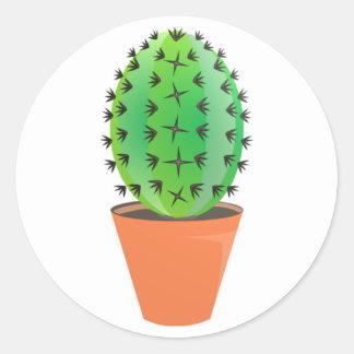Kaktus Classic Round Sticker