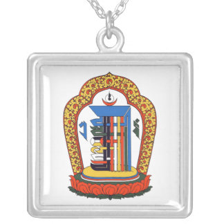 Kalachakra Mantra Silver Plated Necklace