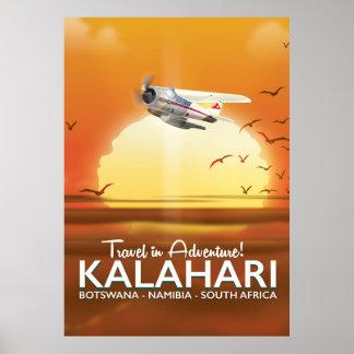 Kalahari Desert Adventure travel poster