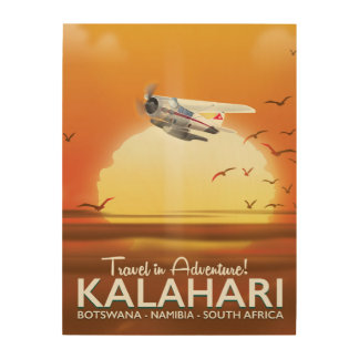 Kalahari Desert Adventure travel poster