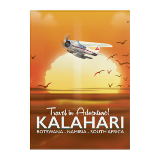 Kalahari Desert Adventure travel poster Acrylic Print