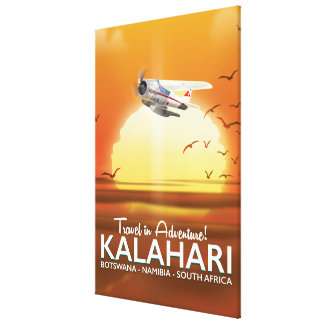 Kalahari Desert Adventure travel poster Canvas Print