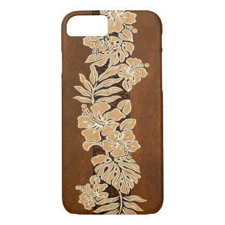 Kalaheo Hawaiian Hibiscus Tapa Faux Wood Case-Mate iPhone Case