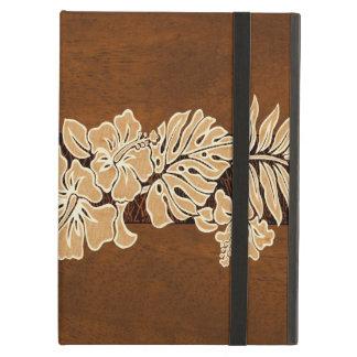 Kalaheo Hawaiian Hibiscus Tapa Faux Wood iPad Air Cover For iPad Air