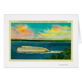 Kalakala Ferry, Puget Sound, Olympic Mountains Card