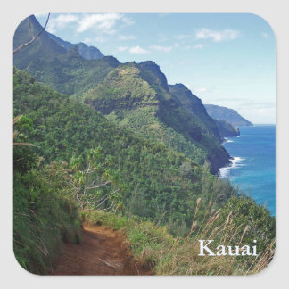 Kalalau Trail Square Sticker