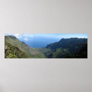 Kalalau Valley, Kauai, Hawaii Poster
