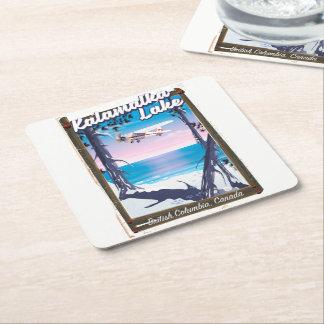 kalamalka lake, British Columbia Canada Square Paper Coaster