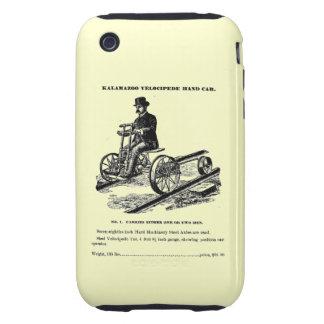 KALAMAZOO Velocipede Railroad Hand Car 1887 iPhone 3 Tough Covers