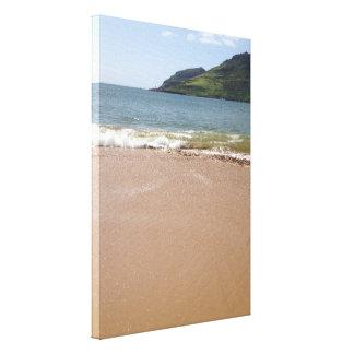 Kalapaki Bay Beach on Kauai in Hawaii Canvas Print