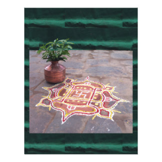 Kalas Vase swastika rangoli indian wedding Symbols Letterhead
