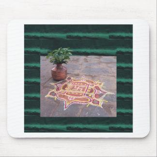 Kalas Vase swastika rangoli indian wedding Symbols Mouse Pad