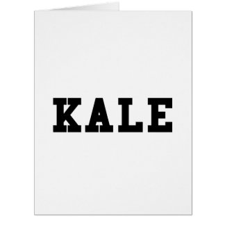 Kale College Font Funny Card
