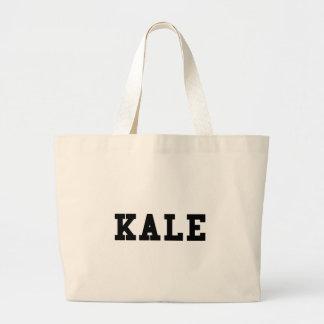 Kale College Font Funny Large Tote Bag