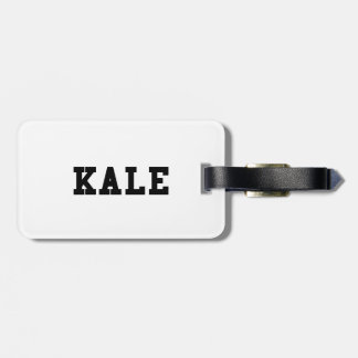 Kale College Font Funny Luggage Tag