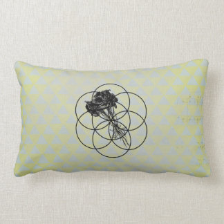 Kale Flower Of Life Abstract Throw Pillow