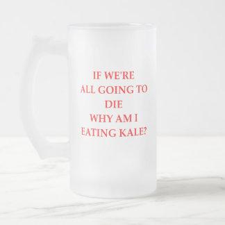 KALE FROSTED GLASS BEER MUG