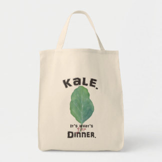 Kale. It's what's for dinner. Grocery Tote.