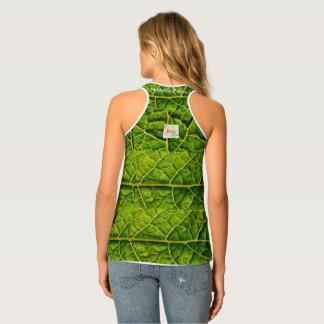 Kale Leaf Pattern Tank Top